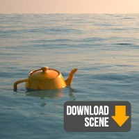 Simple simulation of the sea | V-Ray