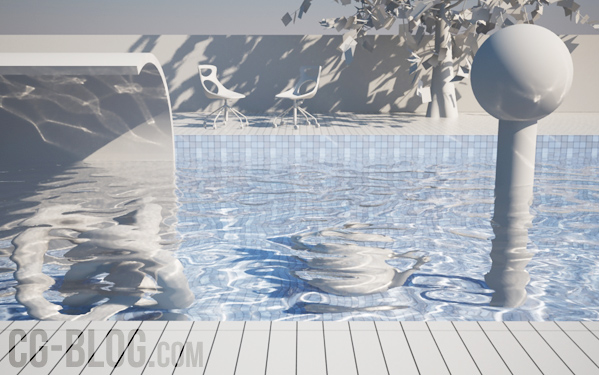 How to setup caustics in v ray pool tutorial cg blog for Show parameter pool